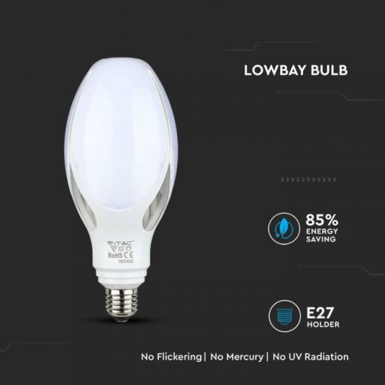 LED крушка E27 VT-240 Samsung chip 36W 4000К 3960Lm