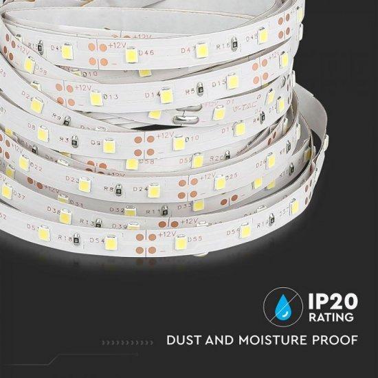 LED лента VT-3528-60 SMD 35х28 60/м 3.6W/м червена 400Lm/м IP20 /опаковка 5м=18W/