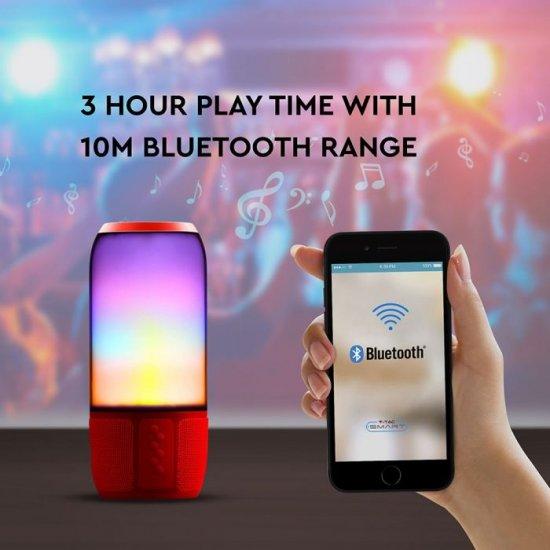 LED настолна лампа + Bluetooth тонколона VT-6211 2х3W RGB IP20 червена
