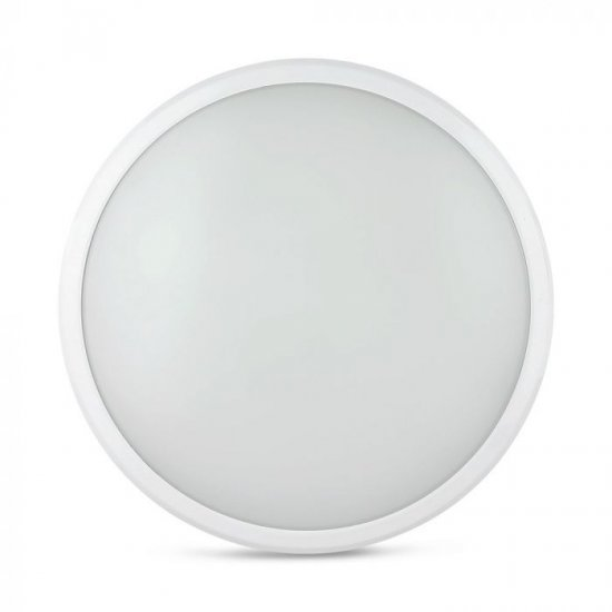 LED плафон с микровълнов сензор VT-12SS Samsung chip 12W 6400K 1440Lm IP54 ф27см 120Lm/W