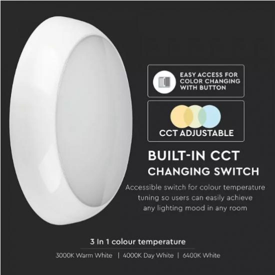 LED плафон VT-2-17 Samsung chip 15W 3-white 1400Lm IP65 ф32см