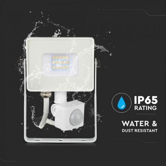 LED прожектор със сензор SAMSUNG CHIP VT-30-S 30W 6400K 2400Lm IP65 бял
