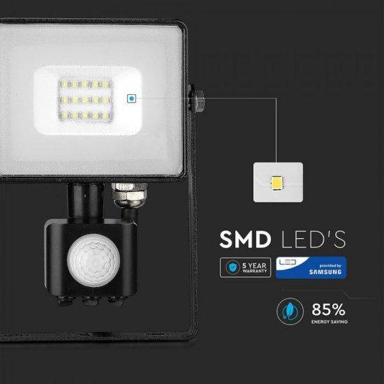 LED прожектор със сензор SAMSUNG CHIP VT-50-S 50W 3000K 4000Lm IP65 черен