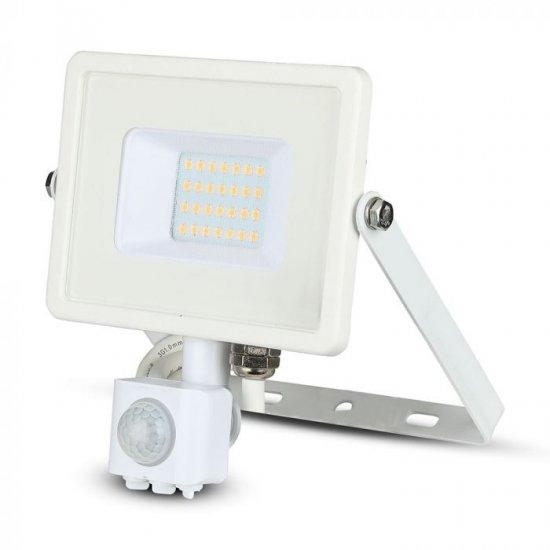 LED прожектор със сензор SAMSUNG CHIP VT-20-S 20W 4000K 1600Lm IP65 бял