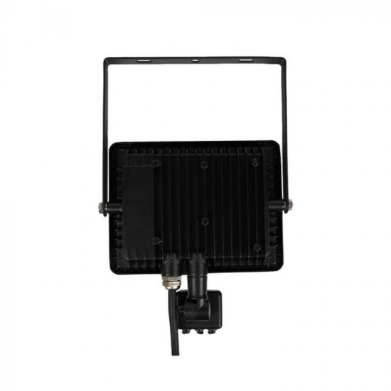 LED прожектор със сензор SAMSUNG CHIP VT-30-S 30W 3000K 2400Lm IP65 черен