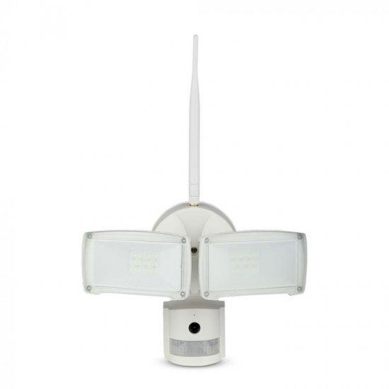 LED прожектор с WiFi сензор камера 18W 6000K 600Lm IP20 бял