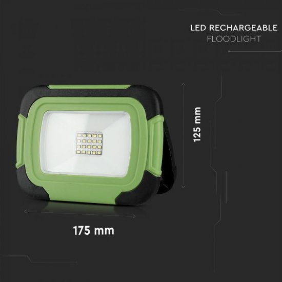 LED прожектор SAMSUNG CHIP VT-10-R 10W 4000K 700Lm IP44 презаредим