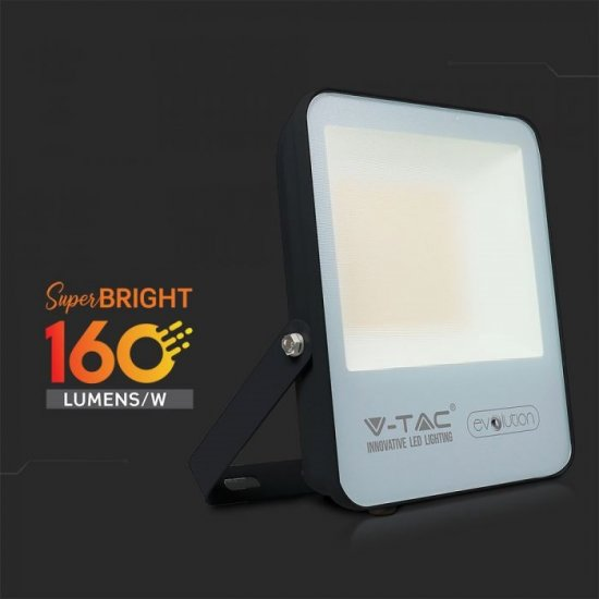 LED прожектор EVOLUTION VT-4961 50W 6400K 8000Lm IP65 черен 160Lm/W