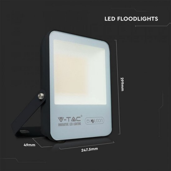 LED прожектор EVOLUTION VT-4961 100W 4000K 16000Lm IP65 черен 160Lm/W