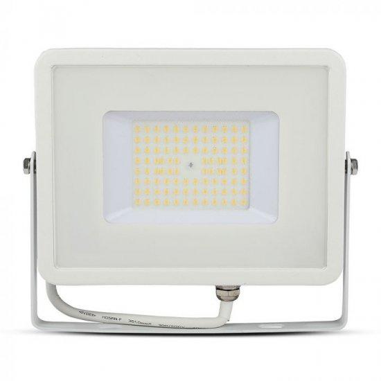 LED прожектор SAMSUNG CHIP VT-56 50W 4000K 6000Lm IP65 бял 120Lm/W
