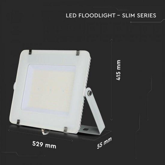 LED прожектор SAMSUNG CHIP VT-306 300W 6400K 36000Lm IP65 бял 120Lm/W