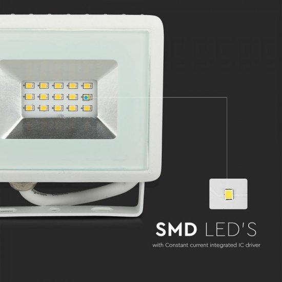 LED прожектор E-Series VT-40101 100W 4000K 8500Lm IP65 бял