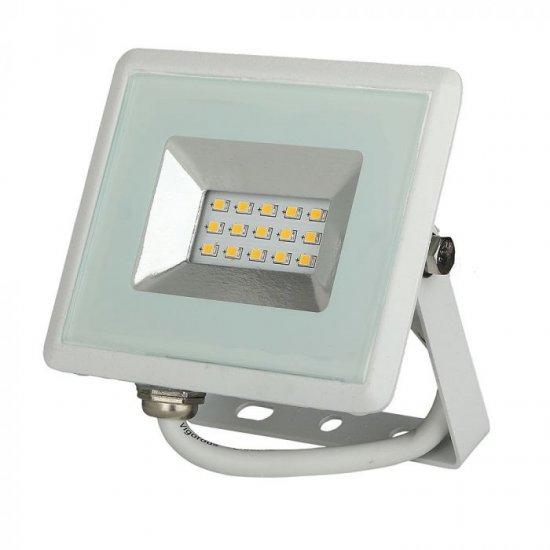 LED прожектор E-Series VT-4011 10W 4000K 850Lm IP65 бял