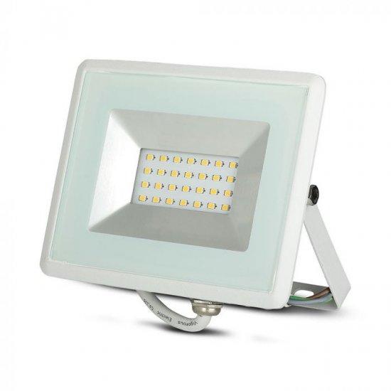 LED прожектор E-Series VT-4021 20W 3000K 1700Lm IP65 бял