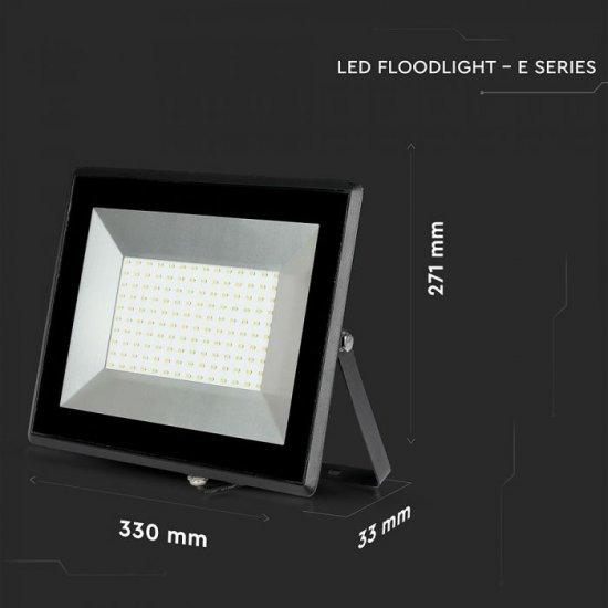 LED прожектор E-Series VT-40101 100W 4000K 8500Lm IP65 черен