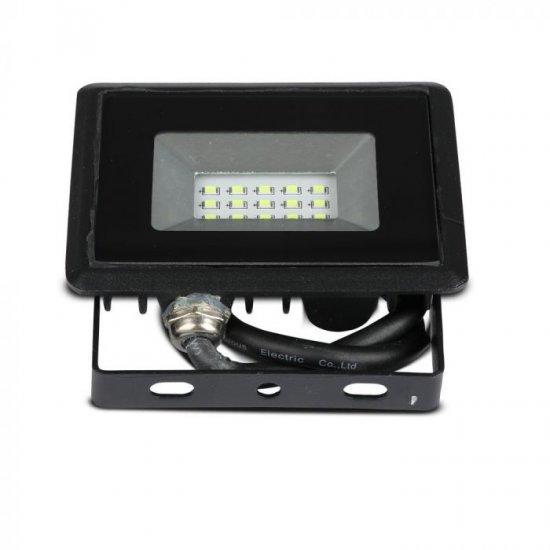 LED прожектор E-Series VT-4011 10W синя светлина 850Lm IP65 черен