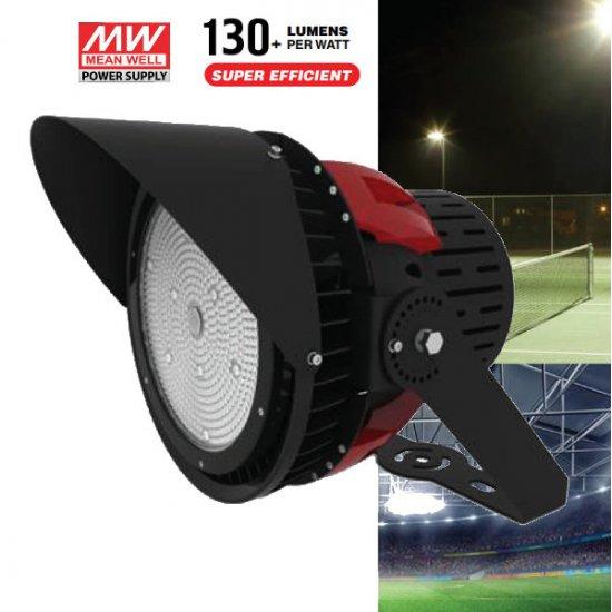 LED прожектор за стадион SAMSUNG CHIP VT-500D 500W 5000К 67000Lm 45° IP65 черен 134Lm/W димируем