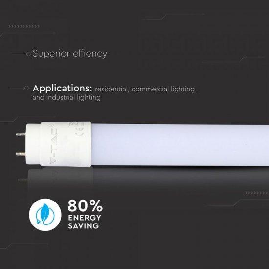 LED пура VT-1607 Super Bright Т8 7W 4000K 1085Lm IP20 60см едностранно захранване 155Lm/W