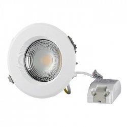 LED COB луна VT-26301 30W 3000К 3600Lm IP20 бяла 120Lm/W