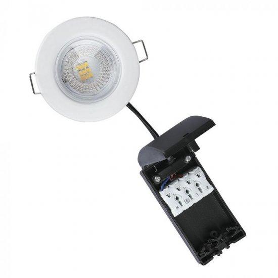 LED луна пожароустойчива VT-885-W Samsung chip 5W 6400K 500Lm IP65 бяла димируема