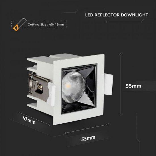 LED луна VT-2-04-1 Samsung chip 4W 2700K 320Lm IP20 бяла