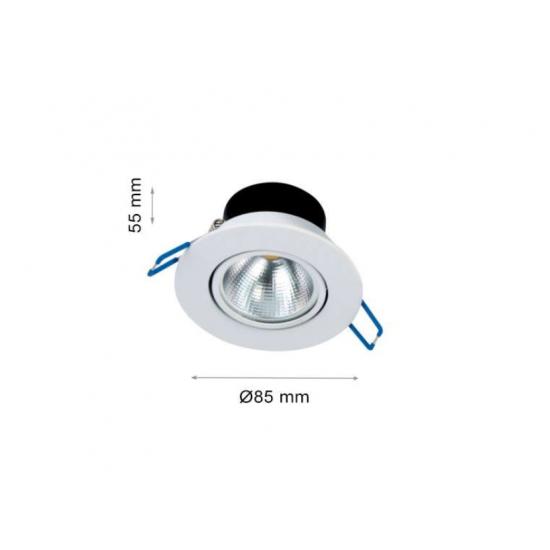 LED луна Hilux FTS 5W 4000K 500Lm IP21 230V бяла кръгла