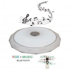 LED музикален плафон RGB  72W 3-white 5760Lm с Bluetooth и дистанционно управление