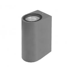 LED фасадно тяло Pozitano R двустранно 2х3W 3000K 600Lm IP44 сиво