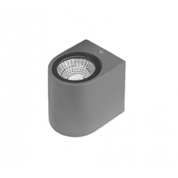 LED фасадно тяло Pozitano R едностранно 3W 3000K 300Lm IP44 сиво